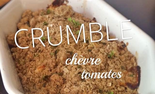 crumble tomates chèvre