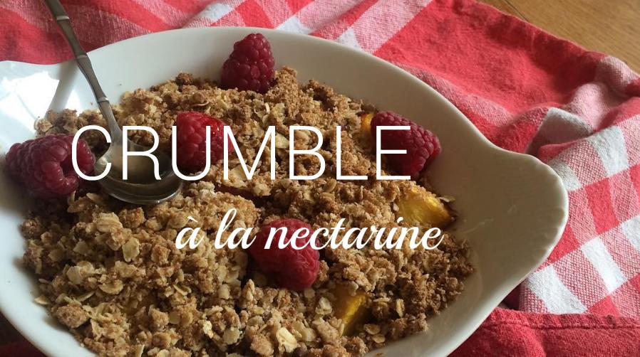 crumble nectarine