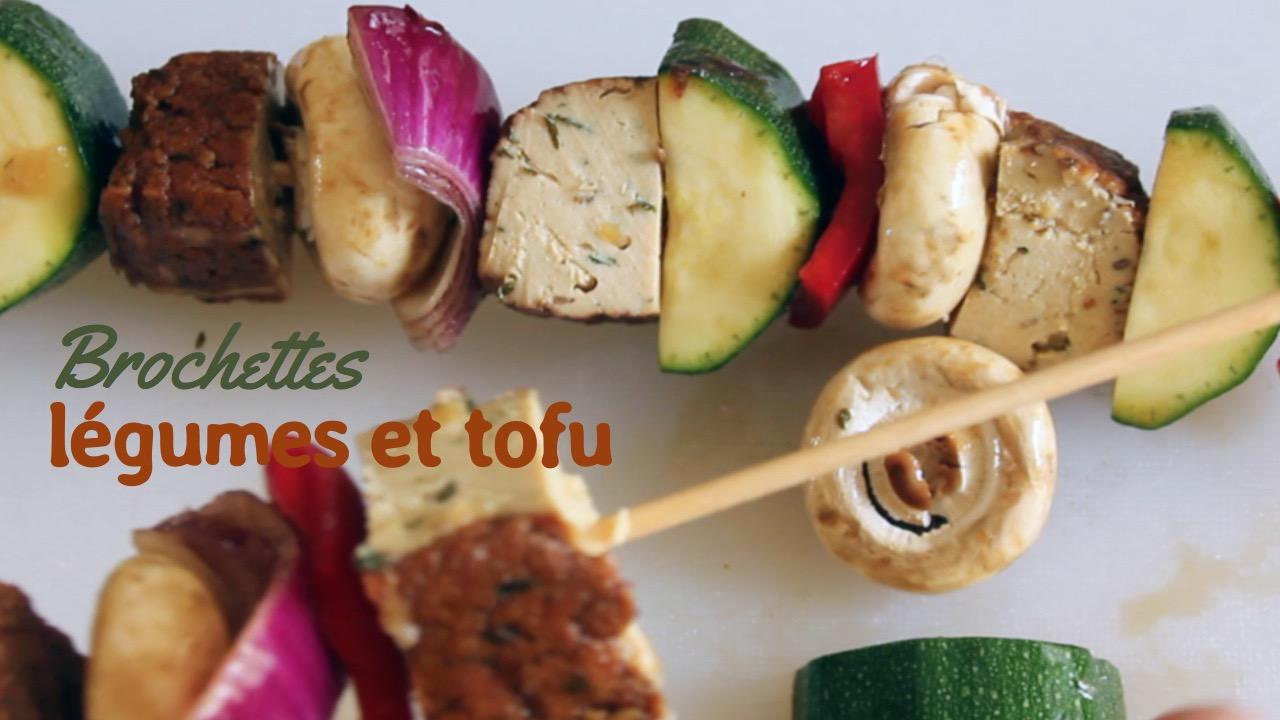 brochettes légumes tofu Une journée dans mon assiette - été - Recettes végétariennes à a tire larigot