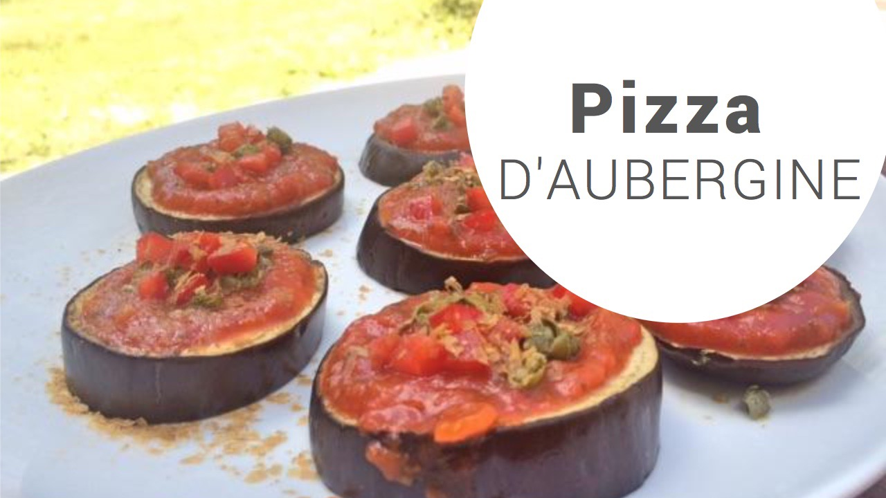 pizza aubergine - recettes végétariennes et vegan - atirelarigot