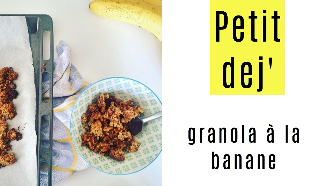 granola a la banane - recettes végétariennes et vegan - atirelarigot