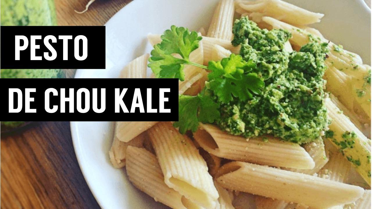 pesto de chou kale - recettes végétariennes et vegan - atirelarigot