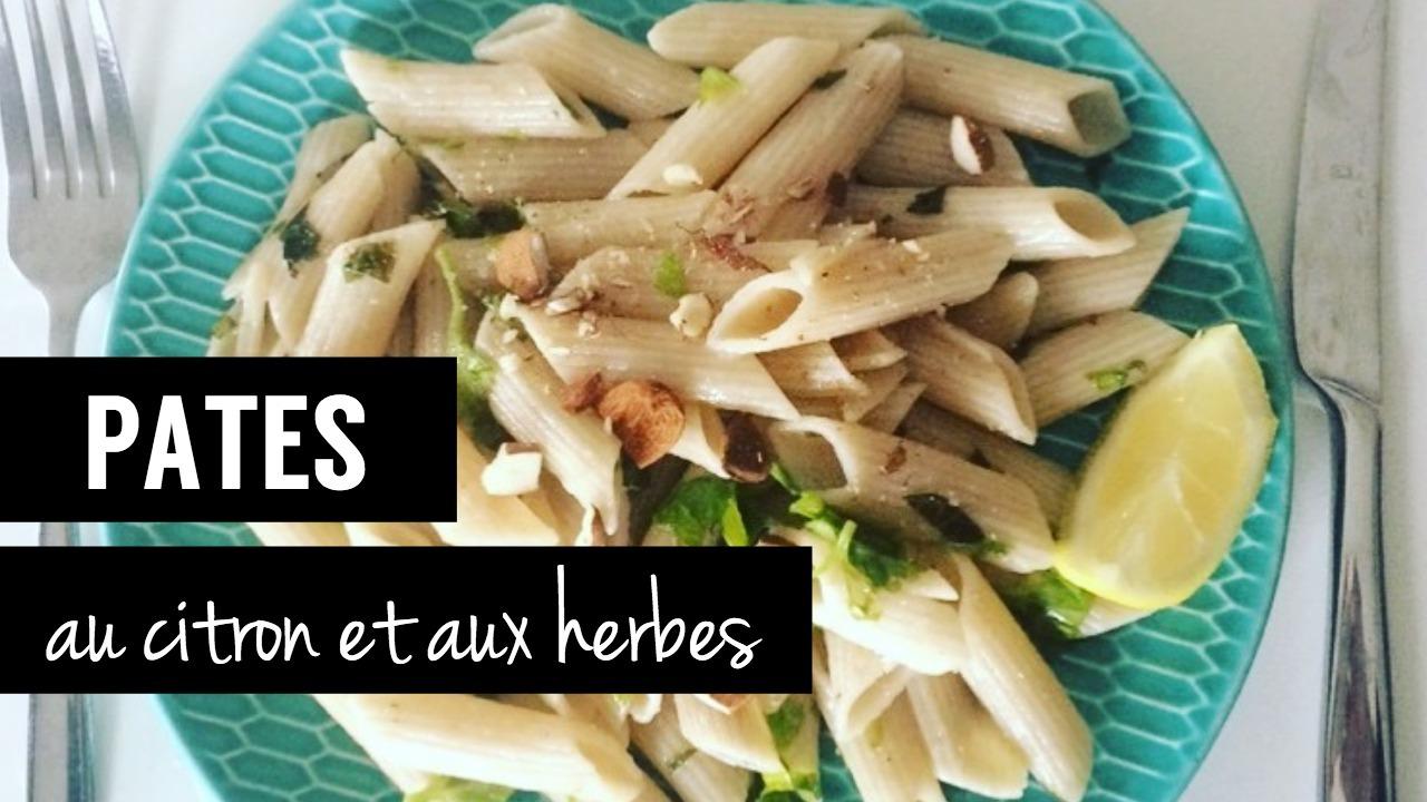 pates au citron et aux herbes - recettes végétariennes et vegan - atirelarigot
