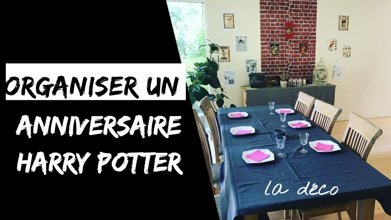 13 idees de deco pour un anniversaire harry potter recettes vegetaliennes a tire larigot. Black Bedroom Furniture Sets. Home Design Ideas