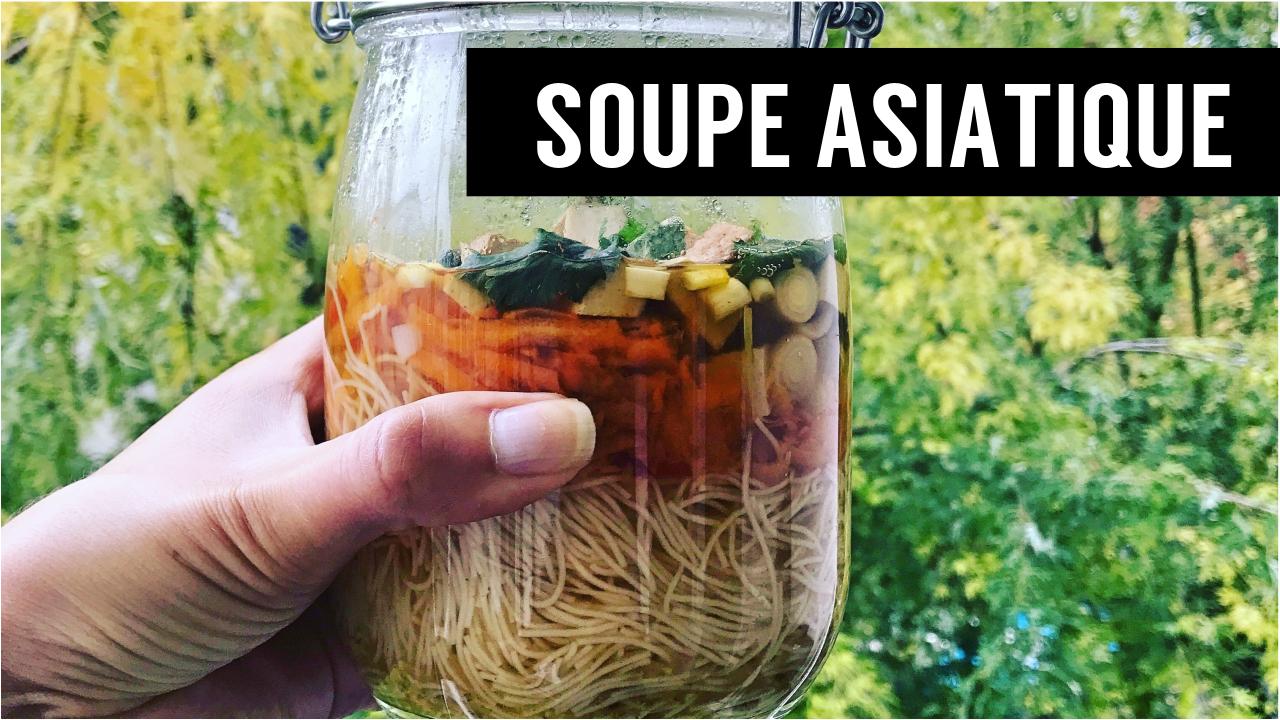 soupe asiatique veggie - recettes végétariennes et vegan - atirelarigot