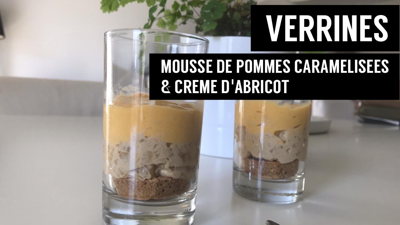 verrines mousse de pommes caramélisées et crème d abricot - recettes végétariennes et vegan - atirelarigot