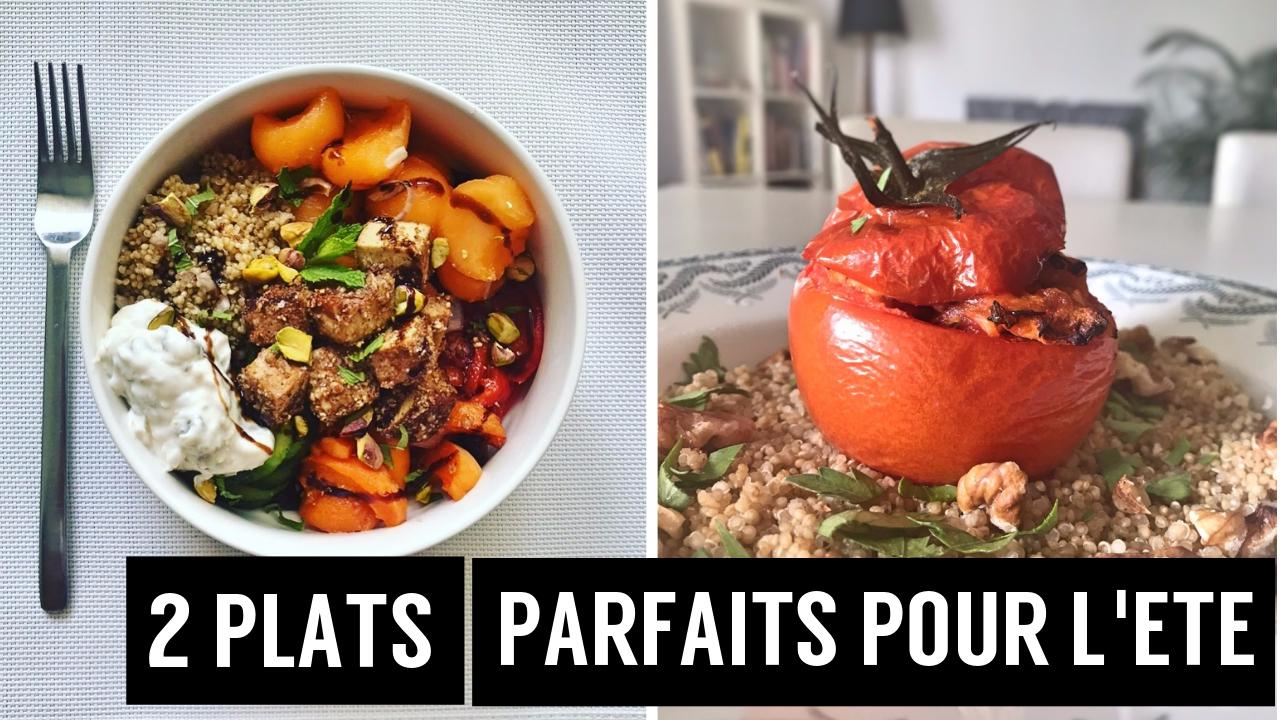 2 plats parfaits pour l été : tomates farcies et buddha bowl - recettes végétariennes et vegan - atirelarigot